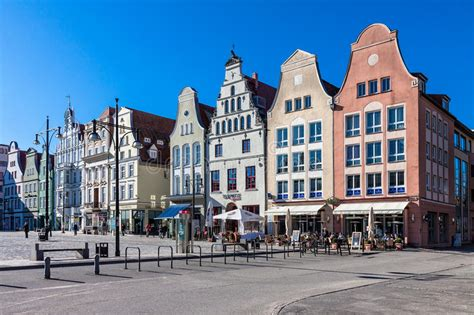 Historical Buildings In Rostock Editorial Photo - Image