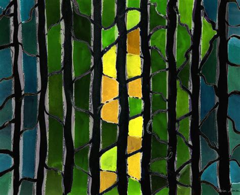 A Light in the Forest of Dispair | Painting, Art, Gouache
