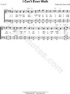 """Gaither Vocal Band """"I Can't Even Walk"""" Sheet Music in D"""
