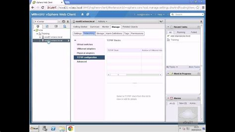 Setting DNS and Routing IPaddresses in vSphere 5