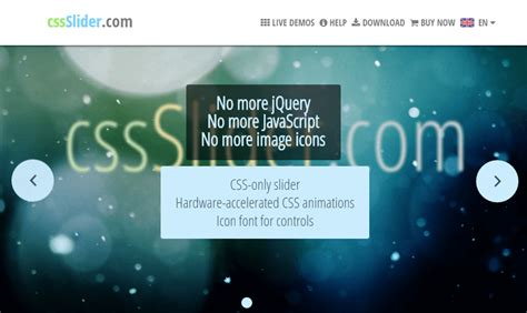 Pure CSS Slider – without Javascript jquery sliders