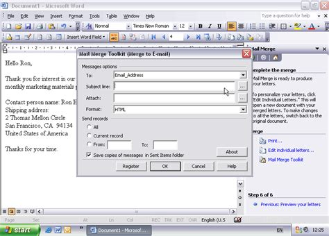 Mail Merge Toolkit - extend Office mail merge features