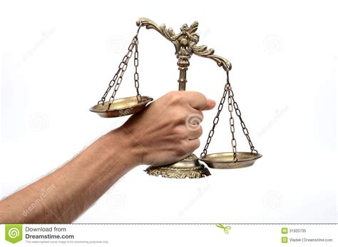Holding Decorative Scales Of Justice Royalty Free Stock