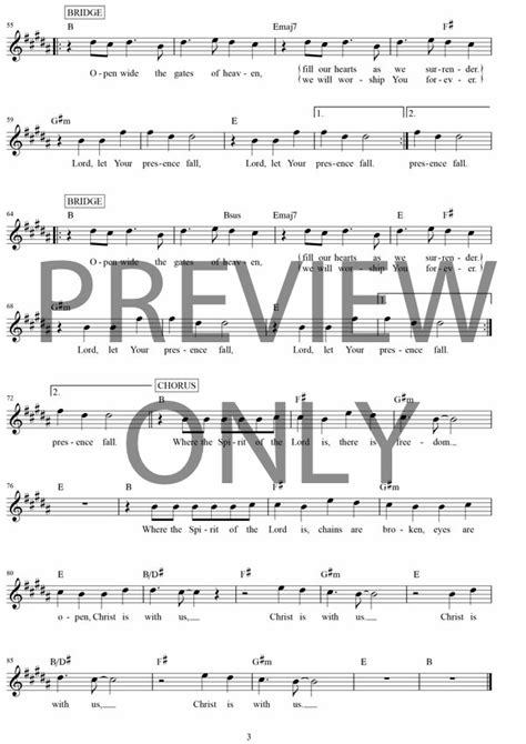 Where The Spirit Of The Lord Is Lead Sheet, Lyrics