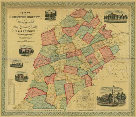 Map of Chester County, Pennsylvania | Library of Congress