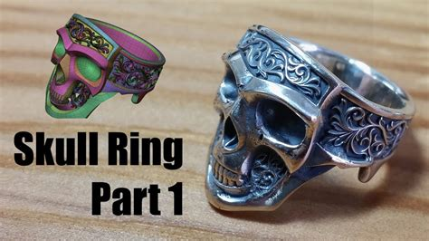 Zbrush - Making Jewelry - Silver Skull Ring - Part 1 - YouTube