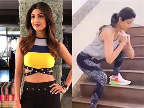 Shilpa Shetty's quick stair exercise is the perfect