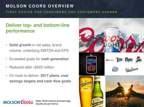 Molson Coors Brewing Company 2017 Q2 - Results - Earnings