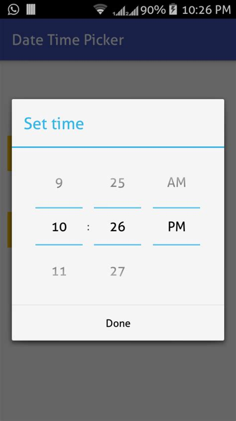 Android Datetime picker example - ParallelCodes